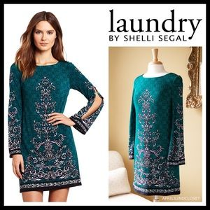 LAUNDRY BY SHELLI SEGAL LONG SLEEVES DRESS A2C